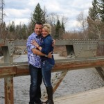 Perry and Stacy Sasnett 10-year Anniversary April 2nd, 2016, Bump Bridge, Whitefish Lake, Montana