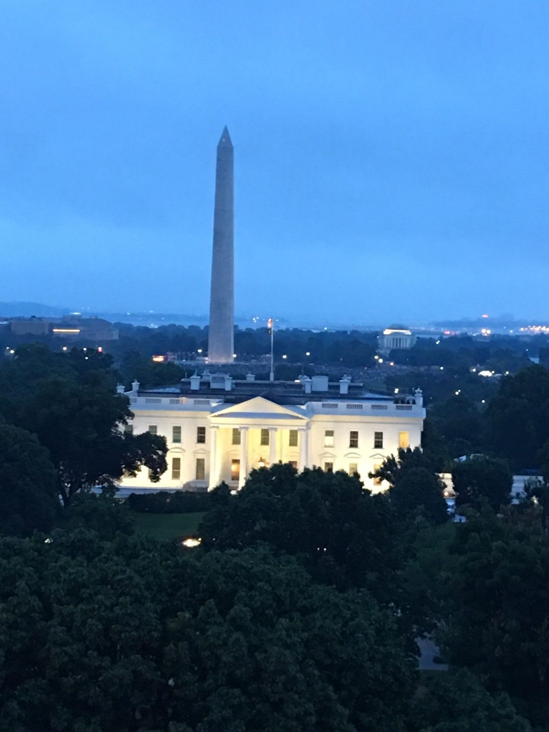 View from the Hay-Adams Hotel
